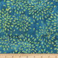 Anthology Fabrics  Art Inspired Nighthawks Petals Blue