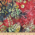 Anthology Fabrics  Art Inspired Batik Singing Butler Tri Floral Twist