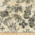 Anthology Fabrics Specialty Batik Southwest Symbols Cream