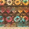 Anthology Fabrics Specialty Batik Southwest Blanket Stripe Brown