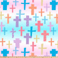 Colorful Crosses Double Brushed Fleece Multi