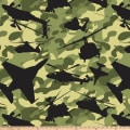 Air Force Camouflage Double Brushed Fleece Green