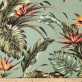Trans-Pacific Textiles Bird of Paradise Outdoor Dobby Barkcloth Sage