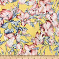Telio Robin Poly Faille Floral Yellow/Denim