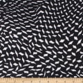 Telio Polyester Pebble Crepe Print Geometric Black White