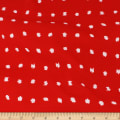 Telio Polyester Pebble Crepe Print Fun Dot Red White