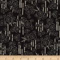 Kaufman Sevenberry: Nara Homespun Black Sakura