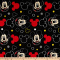 Disney Mickey Everyday Mickey Head Icons Fleece Black