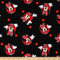 Disney Minnie Minnie With Flowers And Polka Dots Black