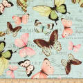 Susan Winget Botanical Buzz Butterfly Verbiage Basketweave Multi
