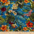 Trans-Pacific Textiles Hawaiian Rainforest Barkcloth Teal