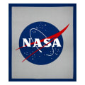 "Riley Blake Out Of This World With NASA Logo 36"" Panel Gray"