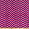 Plush Coral Fleece Chevron Fuschia Amethyst