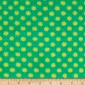 Plush Coral Fleece Polka Dots Emerald Jade