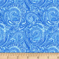 Henry Glass Blue Dream Paisley Blue