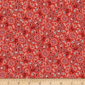 Henry Glass America The Beautiful Mini Paisley Red