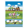 """Henry Glass Knit Chicks 30"""" Chicken And Sheep Panel Multi"""