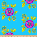 Henry Glass Petals Go Round Large Floral Blue