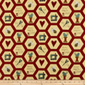 Henry Glass Home Sewn Hexies Red