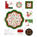 "Patrick Lose Studio Santa's Stash Merry Memories Table Topper 36"" Panel Multi"