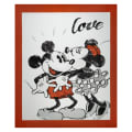 "Springs Creative Disney Mickey & Minnie Vintage Mickey & Minnie Love 24"" Panel Multi"