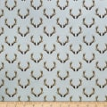 Camelot Winter Woods Antlers in Grey
