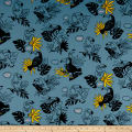 Cosmo Toucans Cotton/Linen Canvas Talking Toucan Toss Blue