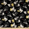 Cosmo Toucans Cotton/Linen Canvas Talking Toucan Toss Black