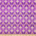 Camelot Spring Birds Wild at Heart in Purple