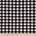 Stretch Seersucker Plaid Black/White