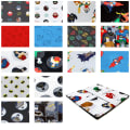 "DC Justice League Activated 10"" Squares 42 Pcs Multi"