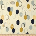Birch Organic Fabrics Mod Nouveau Oblong Hex Metallic Mint