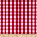 Swimwear Nylon Spandex Gingham Red