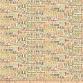 Autumn Woods Multi Color Script Beige