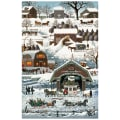 "Northcott Winter Village Winter Village 28"" Panel White"