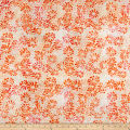 Banyan Batiks Visual Sounds Flowers Orange