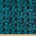 Banyan Batiks Visual Sounds Flowers Blue