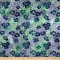 Banyan Batiks Sophie Colored Florals Purple/Green