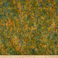 Banyan Batiks Primitive Lines Line Sketches Orange/Blue