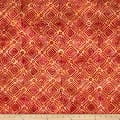 Banyan Batiks Nostalgic Vibes Diagonal Check Tan/Red