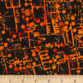 Banyan Batiks Codes And Circuits Orange Black