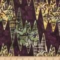 Northcott Banyan Batiks African Violets Mulberry Multi