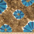 Northcott Banyan Batiks Love To Wear Trio Brown Blue