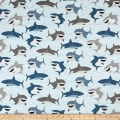 Riley Blake Novelty of the Month Shark Light Blue