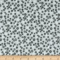 Stof Fabrics Denmark Rainbow Colours Circle & Dots Light Grey