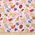 Trans-Pacific Textiles Asian Hachiko Year of the Dog Pink