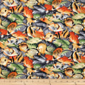 Trans-Pacific Textiles Hawaiian Tropical Fish Gray