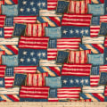 Susan Winget Patriotic Flag Patch Digital Woven Red