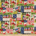 Susan Winget Patriotic Color Me Red Digital Woven Red