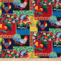 Susan Winget Painted Rooster Patch Digital Woven Multi